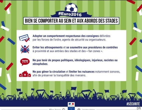 Euro 2016 : les absurdes et dérisoires consignes du ministère de l'intérieur