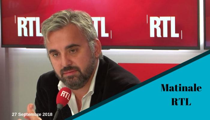 Alexis Corbière invité de la matinale RTL 27 Septembre 2018
