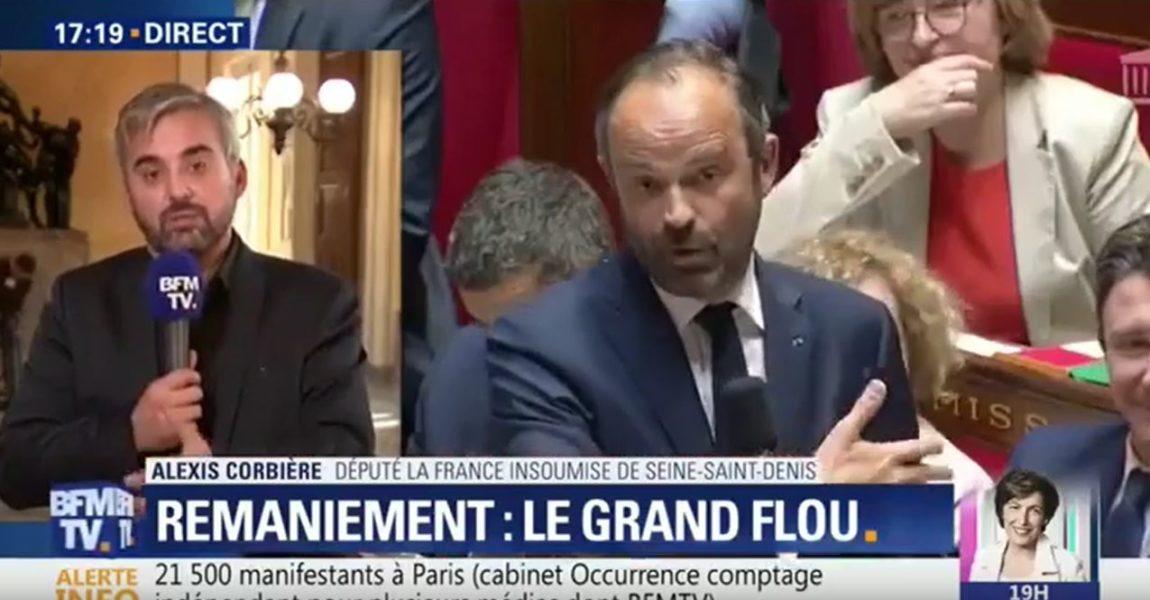 Alexis Corbière : duplex BFMTV sur le remaniement ministériel