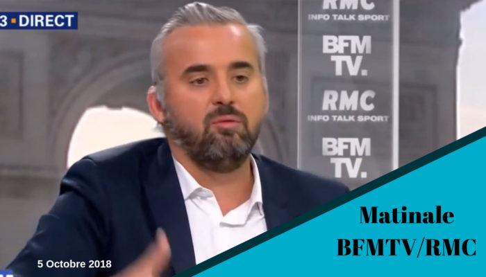 Alexis Corbière invité de Jean-Jacques Bourdin 5 Octobre 2018