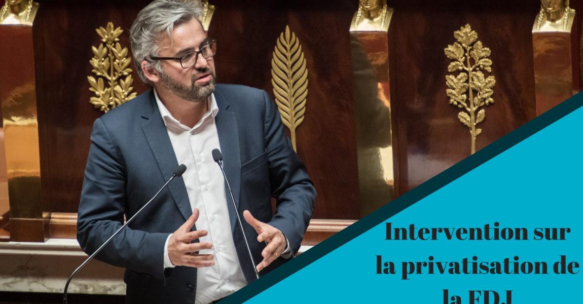 Intervention à la Tribune sur la Privatisation de la Française des Jeux