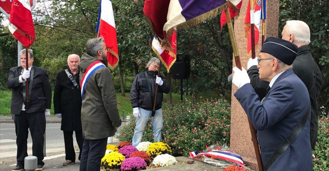 Bagnolet : Hommage à Monsieur Guy Lamothe et aux 27 fusillés de Châteaubriand.
