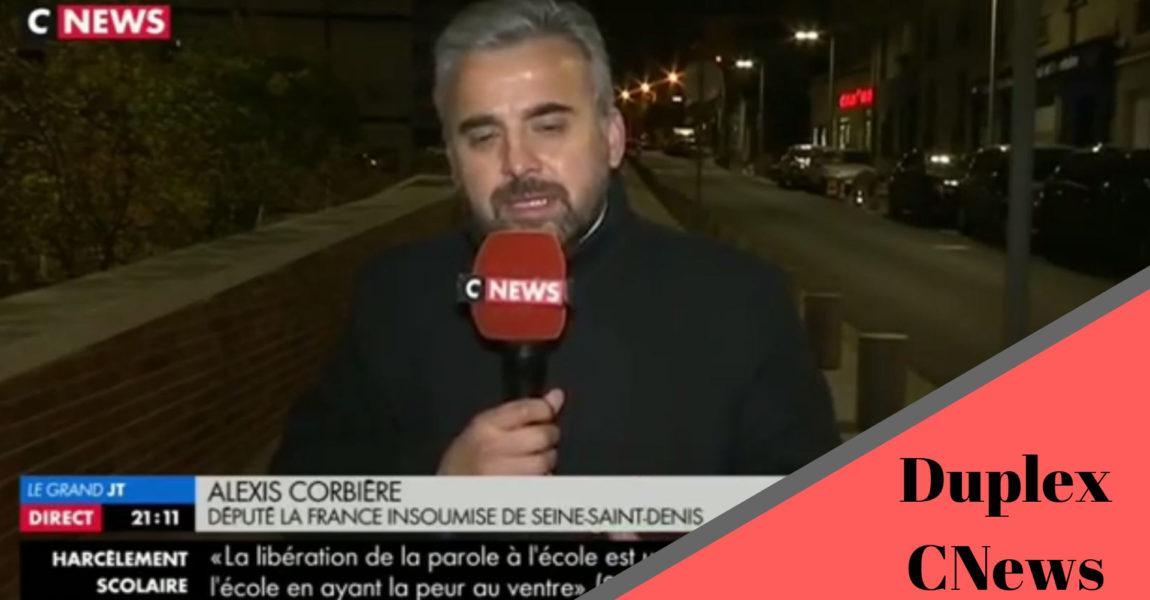 Alexis Corbière en duplex sur CNews le 8 Novembre 2018