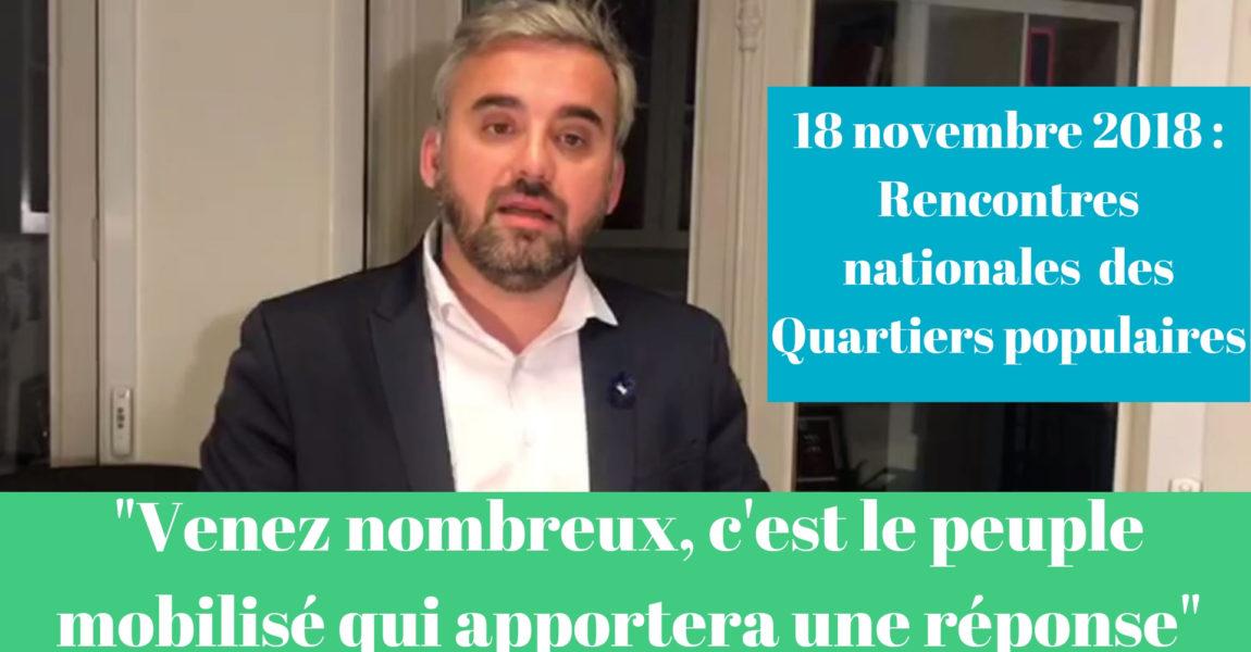 Alexis Corbière : appel pour les rencontres nationales des quartiers populaires le 18/11/2018