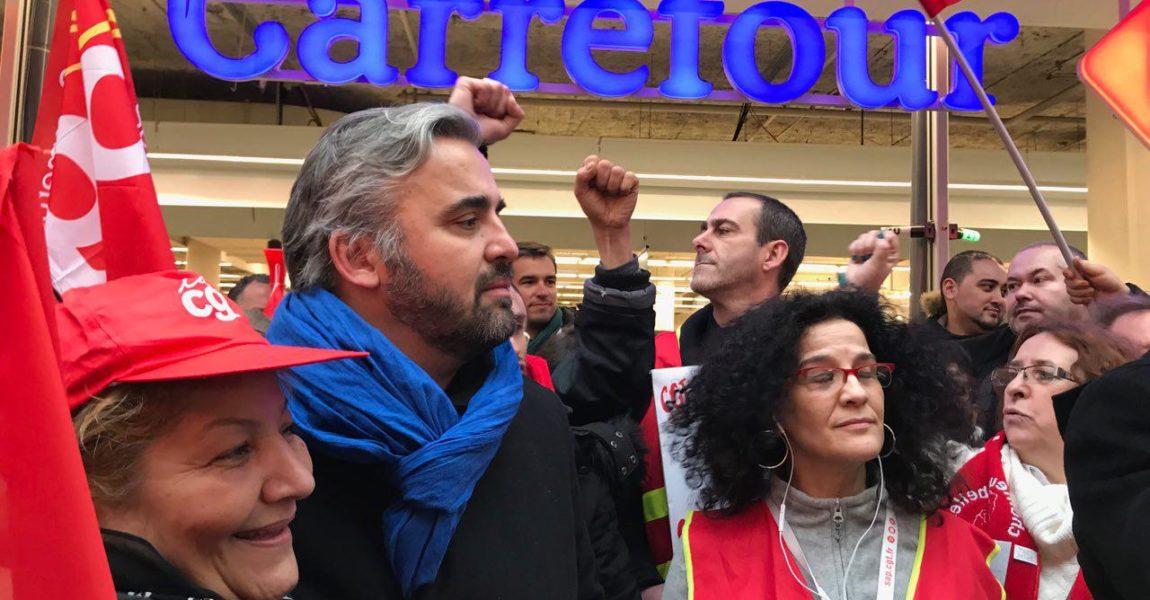 Montreuil : Soutien à la mobilisation des salariés de Carrefour