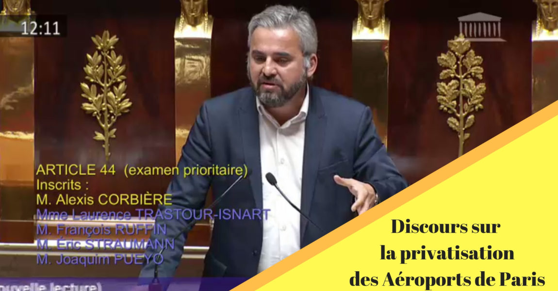 Intervention sur la privatisation des aéroports de Paris