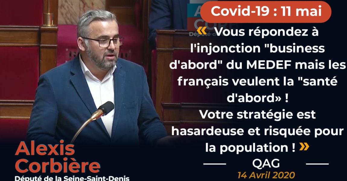 Questions Au Gouvernement sur le COVID-19.