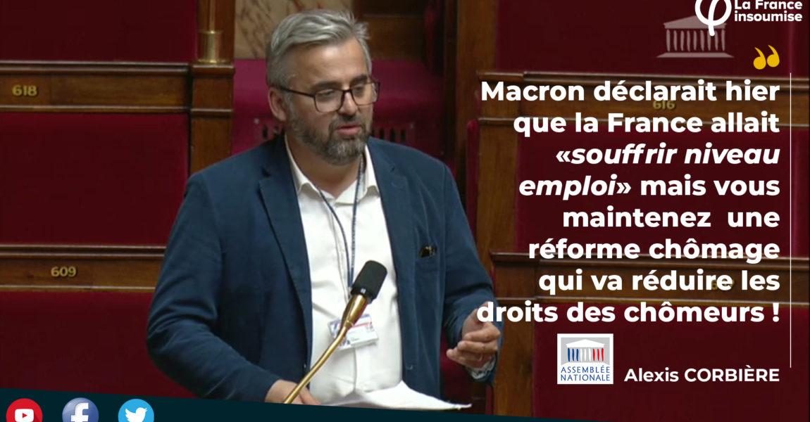 Assemblée Nationale : question sur la réforme de l'assurance chômage