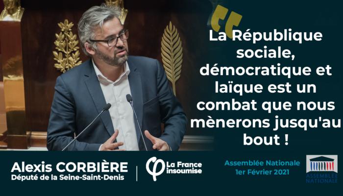 La République sociale, démocratique et laïque est un combat que nous mènerons jusqu'au bout !